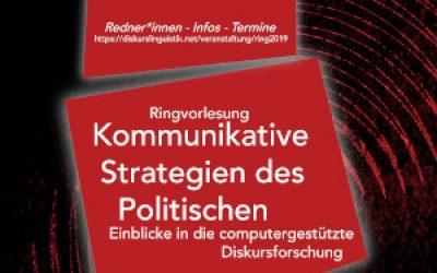 Ringvorlesung: Kommunikative Strategien des Politischen – Einblicke in die computergestützte Diskursforschung