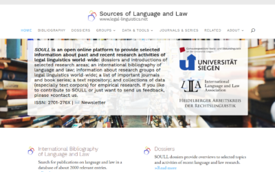 SOULL – Sources of Language and Law
